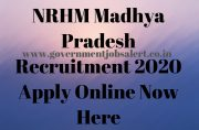 NRHM Madhya Pradesh Recruitment 2020 Apply Online Now Here