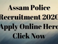 Assam Police Recruitment 2020 Apply Online Here Click Now