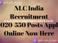 NLC India Recruitment 2020-550 Posts Apply Online Now Here
