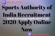 Sports Authority of India Recruitment 2020 Apply Online Now