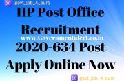 HP Post Office Recruitment 2020-634 Post Apply Online Now