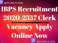 IBPS Recruitment 2020-2557 Clerk Vacancy Apply Online Now